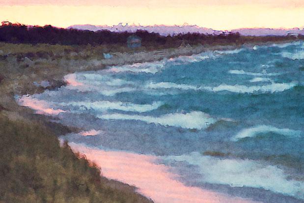 Lake Superior, dawn