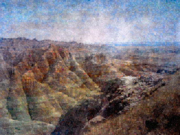 Badlands mosaic