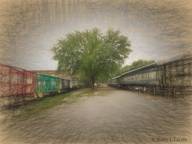 Retired railroad cars