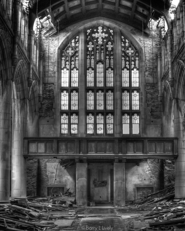 Gary City Methodist before the roof caved in