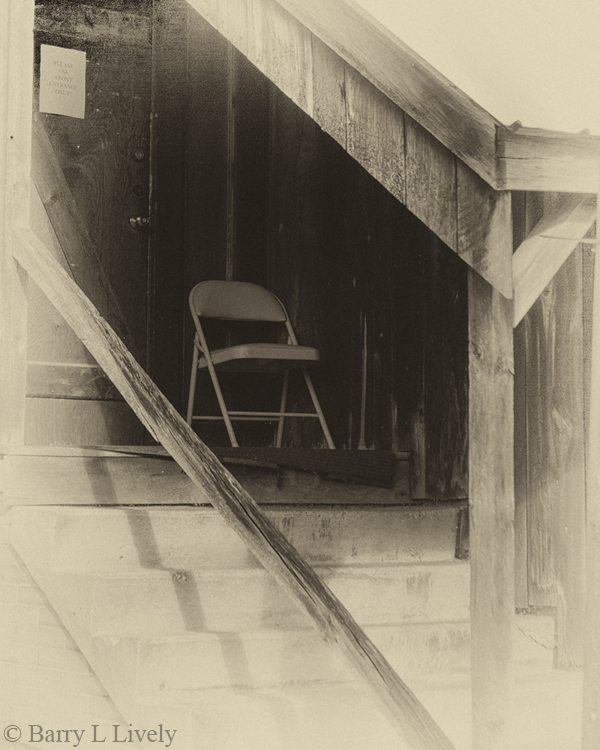 Chair and stairs
