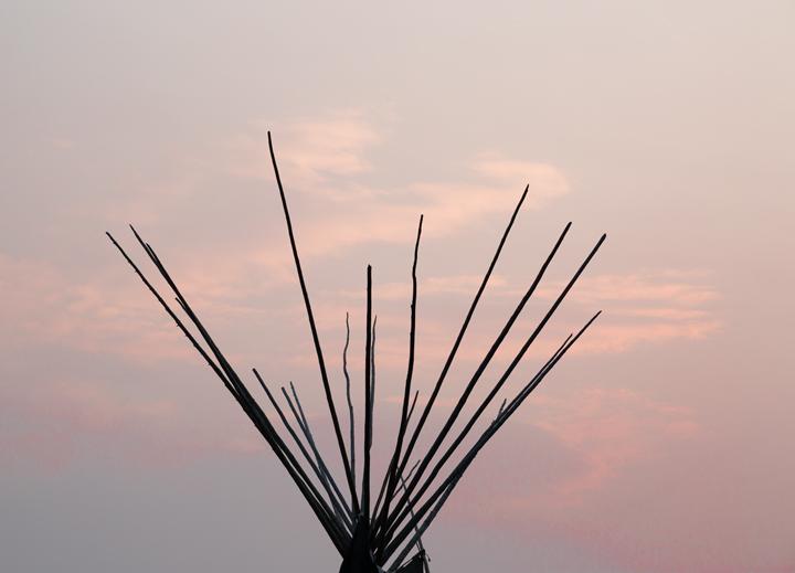 Blackfeet Nation tepee,dawn